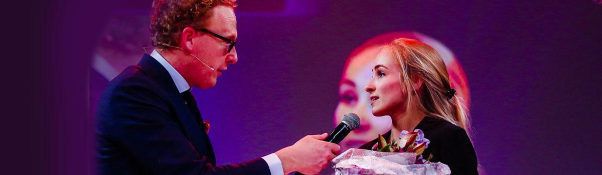 Charlotte Janus als Young Sogetist of the Year