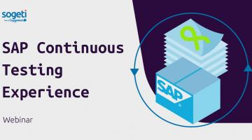 SAP Continuous Testing Experience webinar